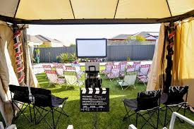 backyard movie nights rental outdoor movie nights host your own