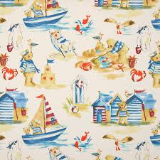 Nursery Curtains Uk by Seaside Curtain Fabric Marine Terrys Fabrics Uk