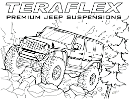 jeep drawing transportation coloring pages for kids printable at jeep zimeon me