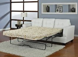 slide out sofa bed diamond white leather sofa bed