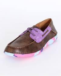 ariat kids u0027 caldwell vintage bomber purple shimmer moccasins
