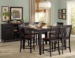 homelegance three falls counter height dining set two tone dark