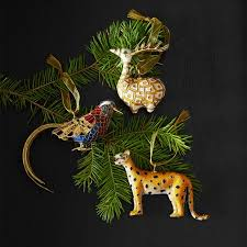 cloisonne ornament deer williams sonoma