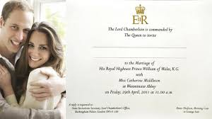 royal wedding invitation see william and kate s royal wedding invitation