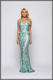 bariano dresses laurel v neck sequin gown by bariano pistachio