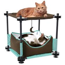 Cat Condos Cheap Amazon Com Kitty City Steel Claw Sleeper Cat Bed Furniture Pet