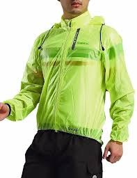 mens hi vis waterproof cycling jacket men santic raincoat windproof sun protection fluorescent green
