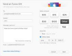 send itunes gifts via email apple support