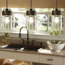 Kitchen Island With Pendant Lights Industrial Farmhouse Glass Jar Pendant Light Pendant Lighting