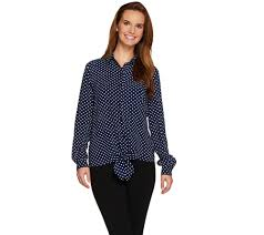 Blouse With Big Bow Clearance Deals Online U2014 Qvc Com