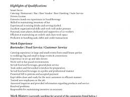 Bartending Resumes Examples by Sample Bartender Resume Objectives Bartender Resume Objective