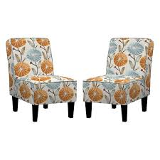 the angelo home set of two jules armless chairs are covered in an