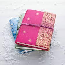 handmade sari notebook saris fair trade and christmas stocking