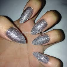 free shipping fake nail tips sharp ending stiletto pointed acrylic