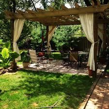 Curtains For Pergola Garden U0026 Outdoor Inspiring Pergola Plans For More Beautiful Yard