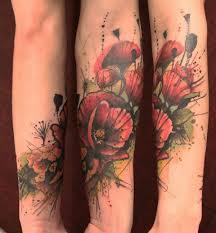 under an umbrella during rain tattoo on forearm