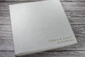 linen photo album grey linen photo album personalised beautifully handcrafted in