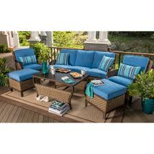 patio furniture seating sets berkley jensen nantucket 6 piece wicker deep seating set in french