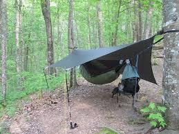 hammock setup with diy tarp set up hiking camping and
