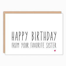 brother birthday card sister birthday card funny birthday
