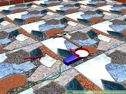 how to tile floors from scrap materials 4 steps