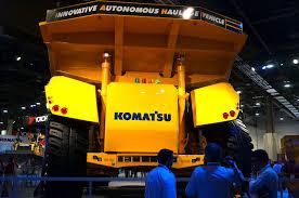 volvo haul trucks for sale komatsu unveils autonomous haulage vehicle a mining truck that