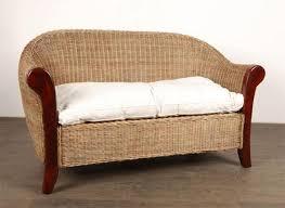 canape en rotin canapé sofa rotin et teck
