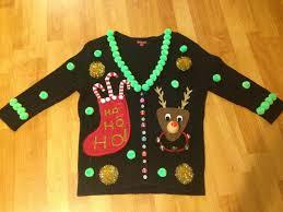 Ugly Green How To Make An Ugly Christmas Sweater Diy Tips Ugly Christmas