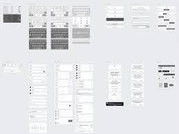 basement ios wireframe kit sample sketch freebie download free