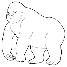 coloring page of gorilla gorilla coloring pages gorilla coloring pages ape page cute gorilla