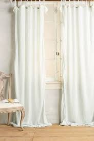 tie top curtains these curtains give the illusion of an