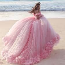 tulle flowers baby pink tulle flowers quinceanera dresses gowns 2018 catsmile