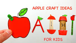 diy apple craft ideas for kids easy u0026 simple from paper youtube