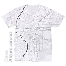Nm Map Citee Fashion Alburquerque Nm Map T Shirt