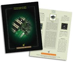 single page brochures design for electronics store offset or