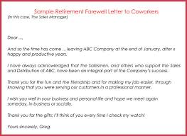 retirement letter samples farewell business letter images letter examples ideas