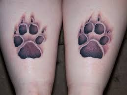 wolf paw print 3d meaning design idea