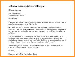 6 accomplishments examples buisness letter forms