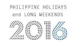 philippine holidays 2016 regular holidays special non working