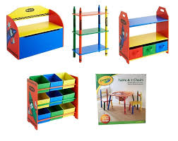 crayola table and chairs crayola wooden childrens kids bench shelves storage units bedroom