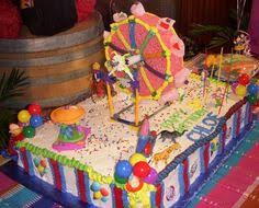 this is a ferris wheel cake that i decorated with basic
