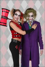 Couples Jester Halloween Costumes Harley Quinn Costumes Batman Joker Costumes