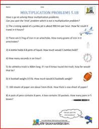 multi step word problems 5th grade printable multiplication problems printable 5th grade