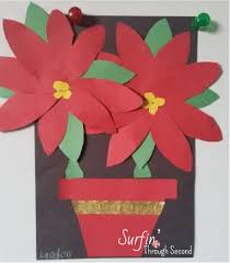 festive poinsettias poinsettia craft and winter holidays