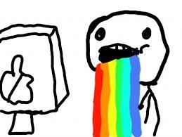 Rainbow Meme - puck rainbow meme