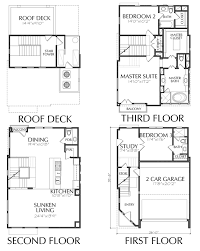 deck floor plan 2200 square foot townhouse with roof deck floor plan