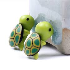 shop 2 pcs lot fimo mini tortoise home ornament diy home