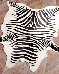 Cowhide Runner Rug Flooring Faux Zebra Print Rug Zebra Print Rug Animal Print