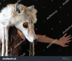 wolf rug spirit halloween golden wolf headdress stock photo 134211017 shutterstock