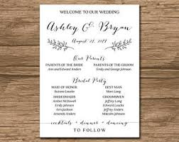 sided wedding programs rustic wedding program order of ceremony ceremony program